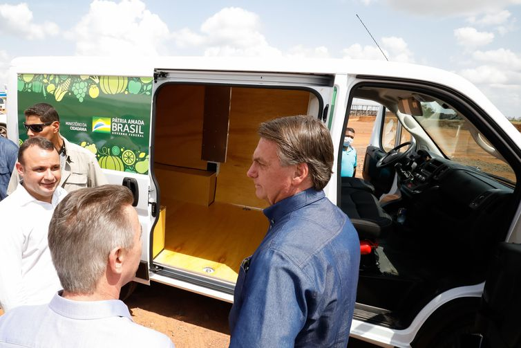 (Boa Vista - RR, 29/09/2021) Presidente da República ,Jair Bolsonaro visita viaturas do Programa Alimenta Brasil.  Foto: Alan Santos/PR