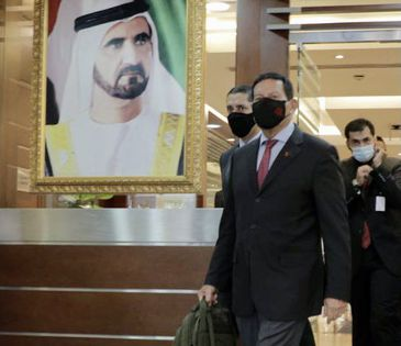 O vice-presidente Hamilton Mourão chega a Dubai, nos Emirados Árabes Unidos, onde vai participar da Expo 2020 Dubai