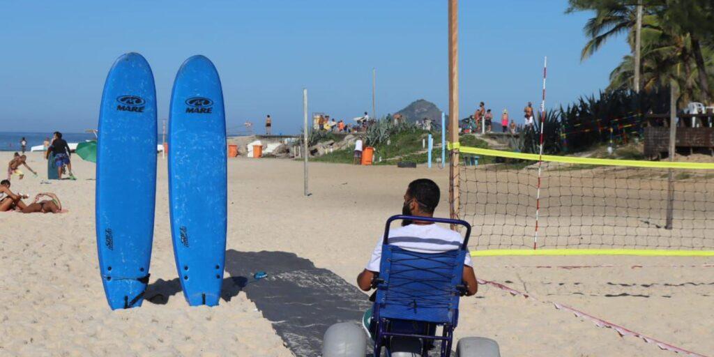 instituto promove inclusão com surfe adaptado e vôlei sentado