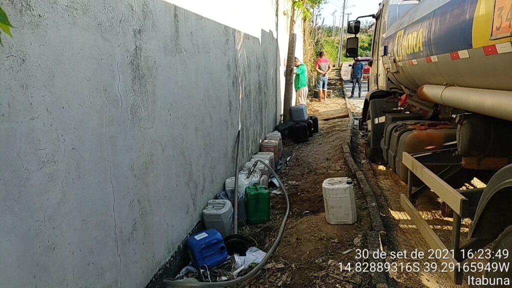 Furto de gasolina em Itabuna