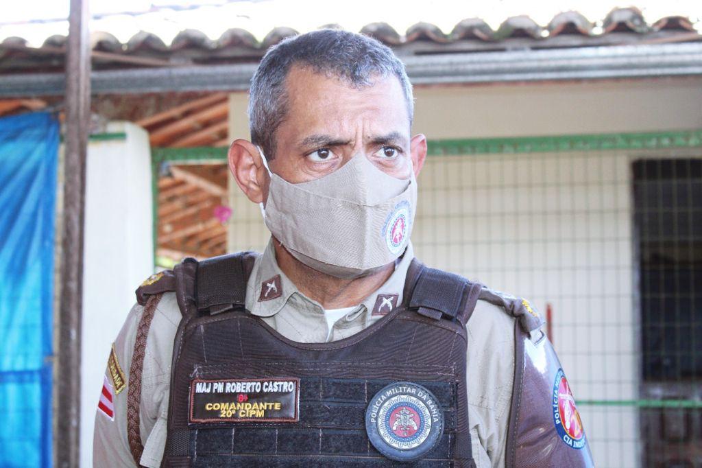 Major Roberto Castro, comandante da 20ª CIPM